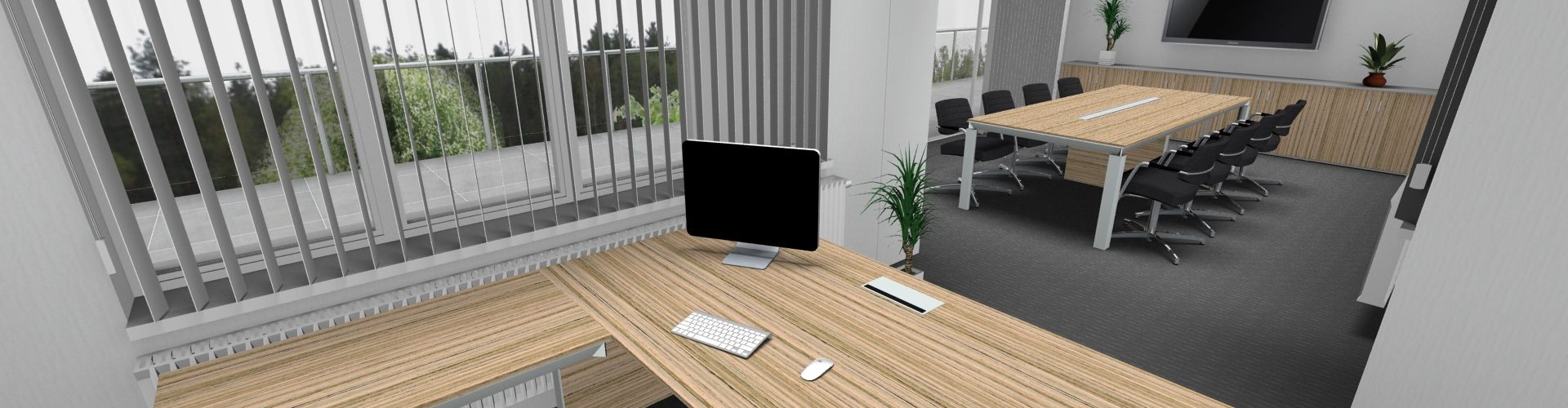Vizualizace kanceláře - nábytek HAN
