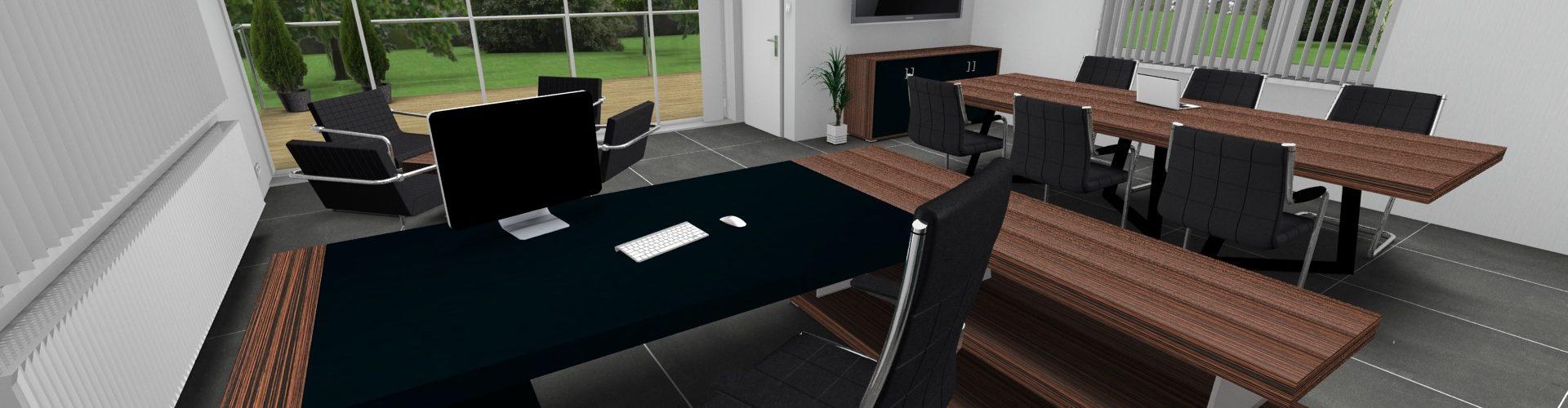 Kancelářský nábytek Kyo - vizualizace kanceláře